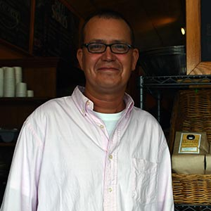 John Moorby, store manager of Uncommon Grounds Albany Store.