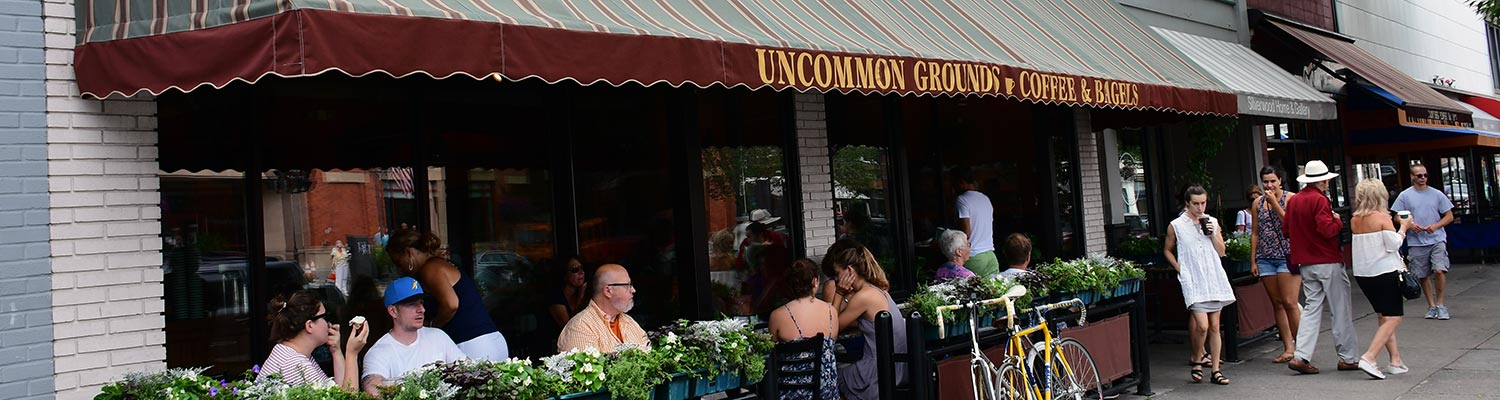 Uncommon Grounds Coffee, located in Albany, Clifton Park and Saratoga