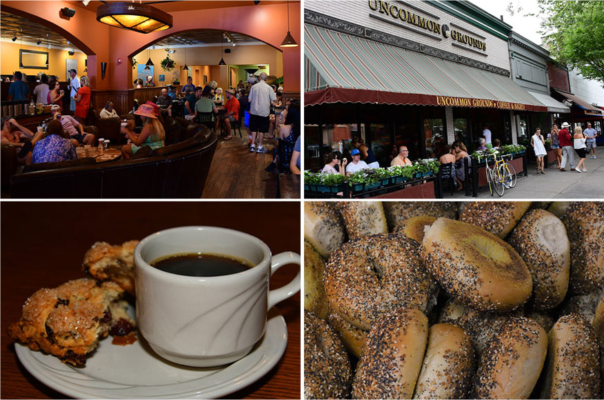 Coffee, tea, and breakfast items at our Saratoga location
