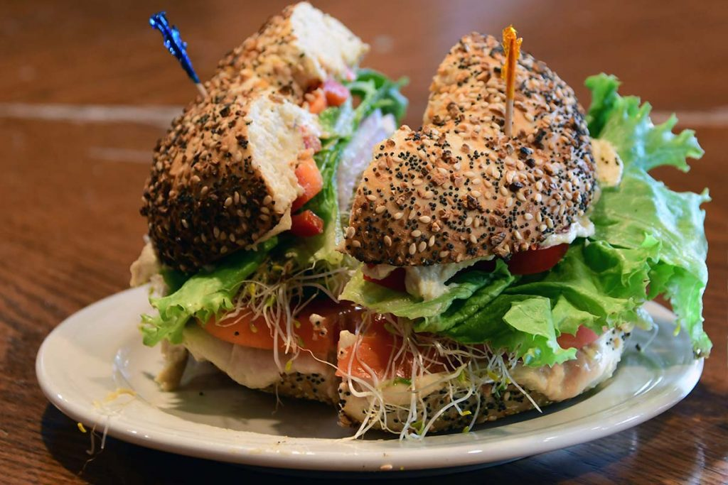 Delicious sandwiches fresh baked, NYC inspired bagels by Uncommon Grounds.